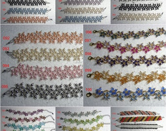 Wholesale bracelet; crystal bracelet; Swarovski bracelet; 20 assorted bracelets, only USD220