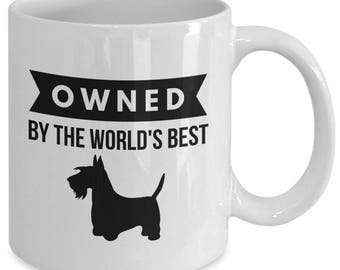 OWNED by Scottish Terrier Coffee Mug for Scottie Dog Lovers
