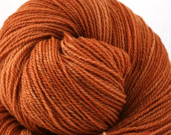 Mohonk Light Hand Dyed fingering weight NYS Wool 550yds 4oz Roasted Persimmon