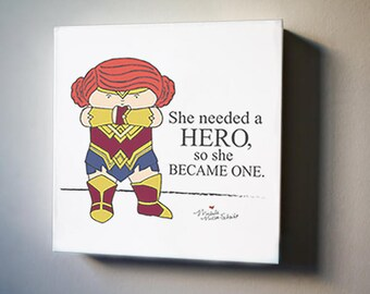 """Cordelia: Real Wonder Woman Exist Limited Edition 8""""x8"""" Canvas Reproduction"""