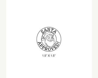 Xmas in July Santa Approved Rubber Stamp 473