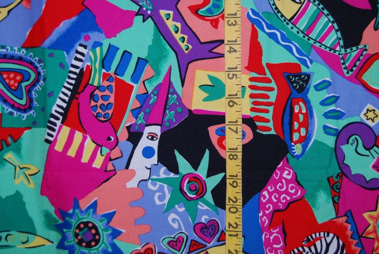Love flower power daisy graffiti print cotton fabric 60s 70s retro -  Zoom