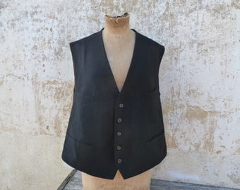 Vintage Antique Edwardian 1900s  French men vest size L