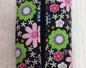 Black Multi color Kleenex tissue holder case