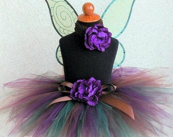 SUMMER SALE 20% OFF Woodland Beauty - Custom Sewn Tutu - 11'' pixie tutu - Made-To-Order - sizes newborn up to 5T - tutu only