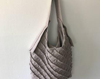 lax tote linen bag - GREY tote bag - linen tote
