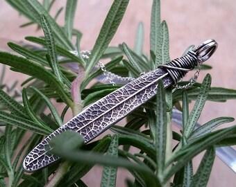 Extra Large Rosemary Leaf Necklace