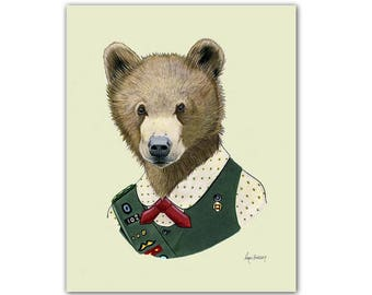 Scout Bear print 11x14