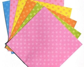 50% OFF - Rainbow Stars - 6x6 Forever In Time Paper Pack