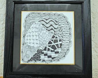 Whimsy doodle - zentangle art