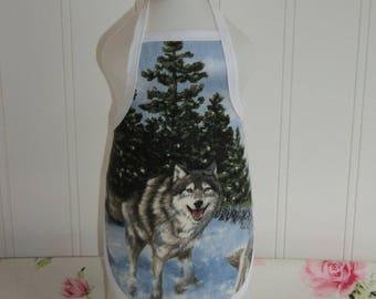 Wolf Dish Soap Bottle Apron
