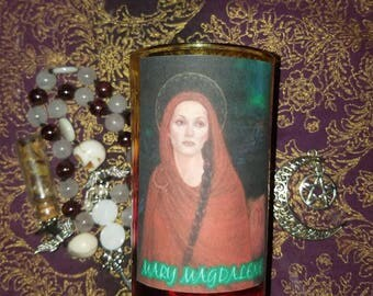 Mary Magdalene Reusable Goddess Candle Holder ~ Witchcraft Candle ~ Wicca  Candle ~ Ritual Candle ~ Altar Candle ~ Pagan Candle