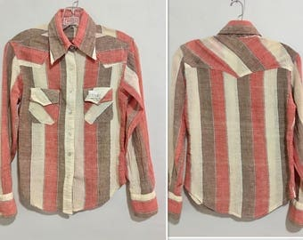 Vintage 1970's Hatari Gauze Cotton Shirt Made in India