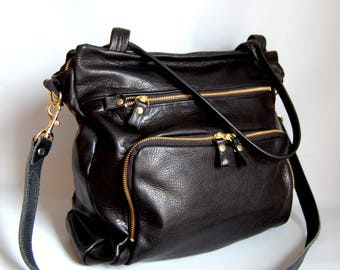50% OFF- leather willow bag in black