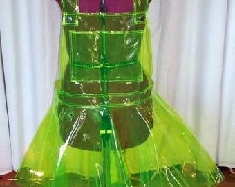 Sheer PVC Harajuku Apron Dress