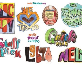 Sticker sheet for Librarians