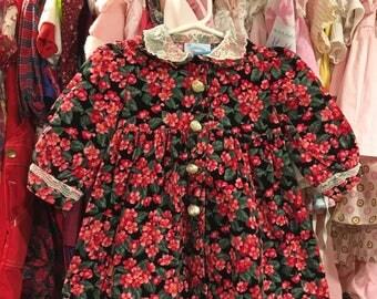 Floral Corduroy Dress 6/9 Months