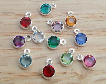 Swarovski Birthstone Chystal, Silver ADD ON
