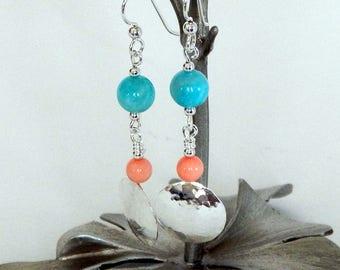 Amazonite Earrings Sterling Silver Handmade Earrings Natural Gemstones Amazonite Jewelry Gemstone Earrings Aqua Earrings Gift For Her