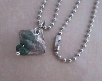 strive necklace green jade copper silver girls women