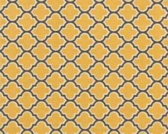 Joel Dewberry Fabric, Aviary 2, Lodge Lattice  Yellow, By the Yard, 100% Cotton - FAT QUARTER