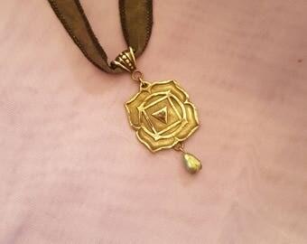 Root Chakra Silver Medallion