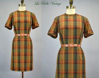 60s Pencil Skirt Mini Vintage Dress S XS ~ Gay Gibson