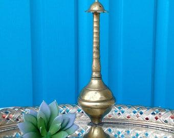 FREE SHIPPING-Vintage Indian Brass Rosewater Bottle-Brass Rose Water Sprinkler/Shaker-Bohemian-Wedding-Perfume Bottle-Rare Rosewater Bottle