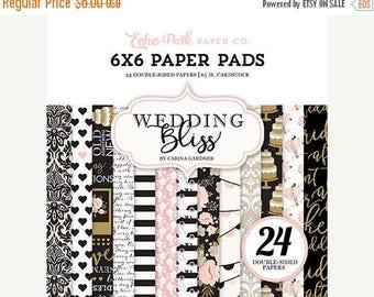 ON SALE Echo Park Wedding Bliss 6x6 Paper Pad