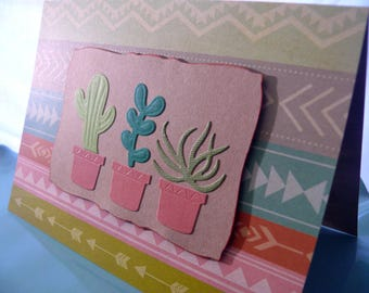 Cactus Cards, Blank Card Set, Thank You Card Set, Greeting Card Set, Stationery Set, Snail Mail, Set of 6 Cards, Southwest, Cacti, Succulent