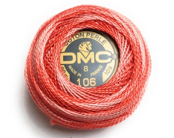 DMC 106 - Perle Cotton Thread |Size 8| Variegated Pumpkin