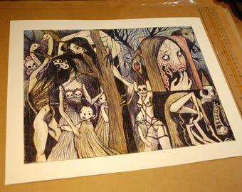 Strange Wood Print