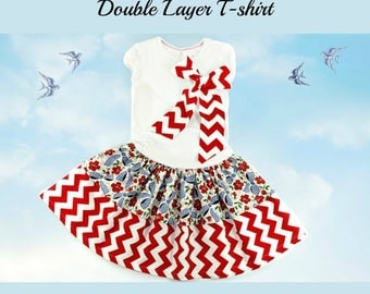 SALE T-Shirt Dress Sewing Tutorial w. double layers Whimsy Couture