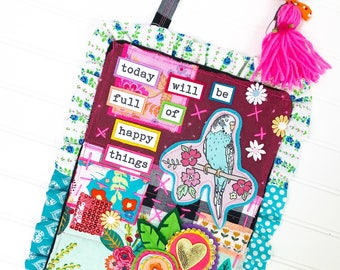 Today Will be Full of Happy Things Collection, Print #1 -- Mixed Media Wall Art