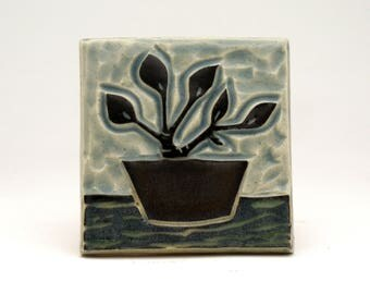 Potted Plant-3x3 ceramic tile- Ruchika Madan