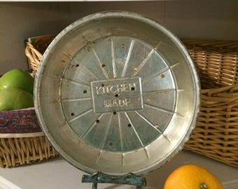 Vintage Tin Metal Baking Pie Pan Pies Antique Baking Kitchen Decor Collectible Kitchen Made