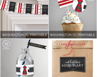 INSTANT DOWNLOAD - Washington D.C.  -  Missionary Farewell Welcome Home Decoration Printable Set for Elders
