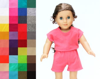 Fits like American Girl Doll Clothes - The Runway Romper, You Choose Color
