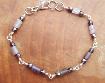 Amethyst layering bracelet