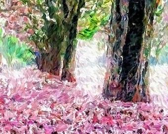 HUGE SUMMER SALE 40% off Modern Landscape, Springtime,  Giclee Archival Print, Photomontage, Collage, Painted Photographs, Wall Art, Home De