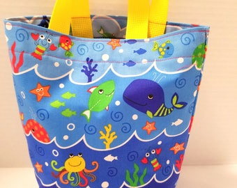 Fish In The Sea Purse/Gift Bag/Tote/Easter Basket