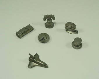 6 Pc Monopoly American Special Edition Pewter Game Pieces