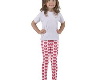 Valentines Leggings, Valentines Leggings Kids, Valentines Clothing, Heart Leggings Girls, Heart Leggings Toddler, Cute Leggings