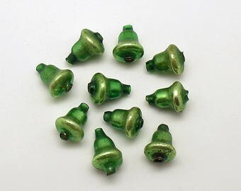 Vintage Glass Bells Beads