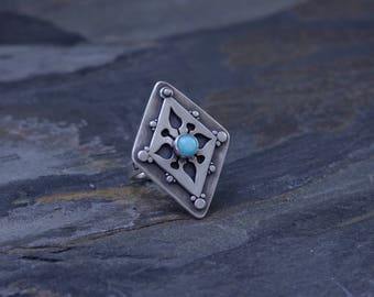 Cut Out Ring with Amazonite