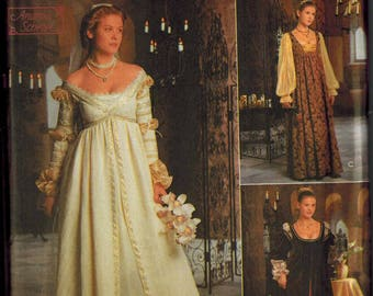 Renaissance Costume Gown Patterns Simplicity 8735 Sizes 4-6-8 OUT OF PRINT Ever After Ball Gown