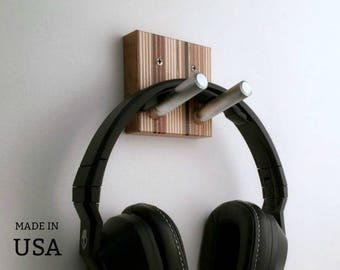 Headphone Hook, Studio Decor, DJ Gift, Audiophile Gift, Wall Headphones Hook