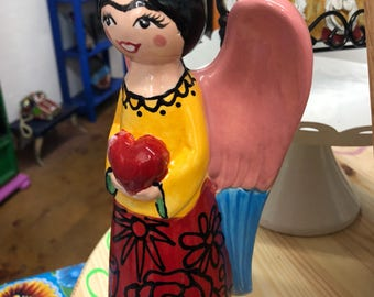 Custom Angel Statue - Red Dress