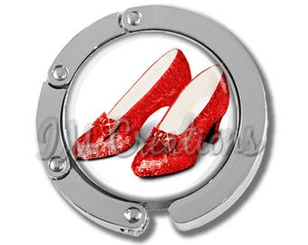 NEW just for this holiday season!! Foldable Bag Purse Hook - Ruby Slippers Wizard of Oz FHK111