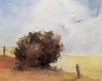 """Country Summer Oil Painting 5x5""""  Original"""